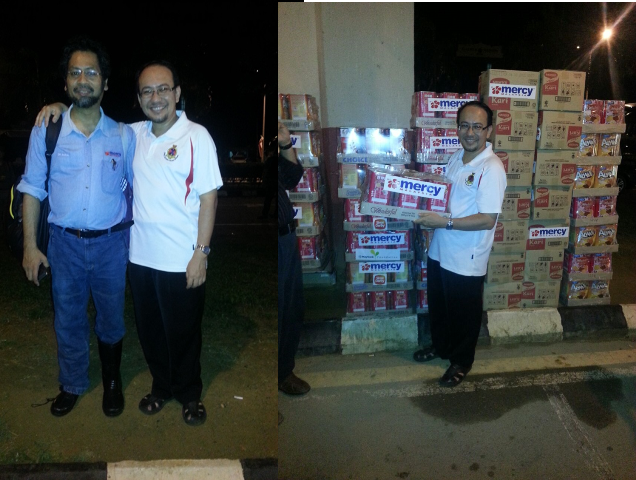 Bantuan makanan dari MERCY yang tiba di Lapangan Terbang Pengkalan Chepa