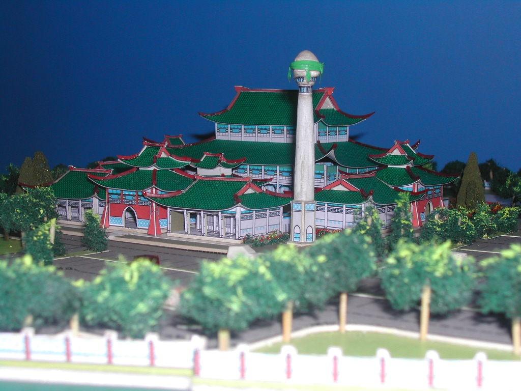 Cadangan senibina masjid Cina dalam bentuk 3D